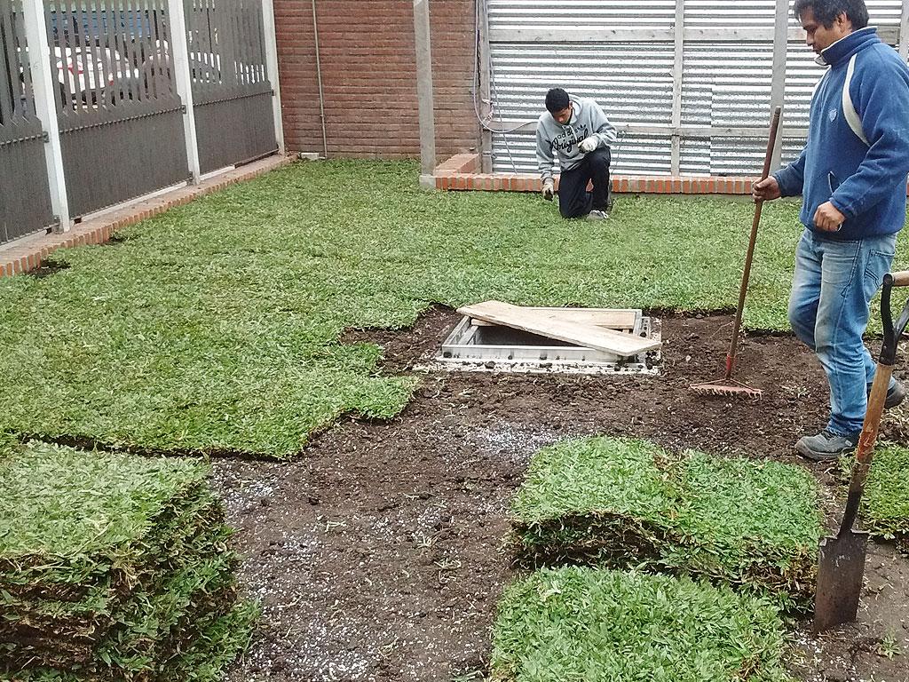 Techo verde en Sanatorio Juncal