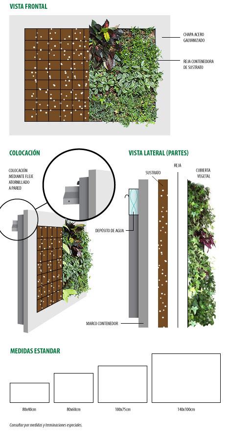 infografia cuadros verdes