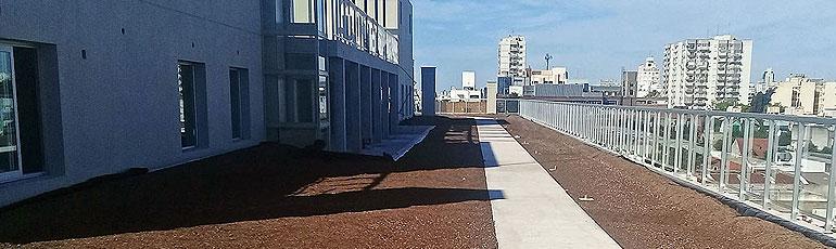 impermeabilización terraza verde