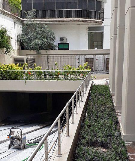 weik belgrano terraza verde y parquización
