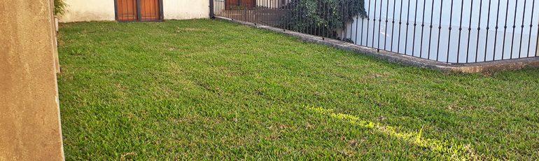 Terraza verde en casa Villa Crespo
